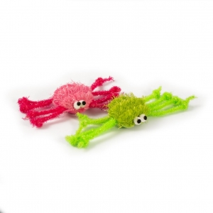 Ancol Furry Spiders 2pk