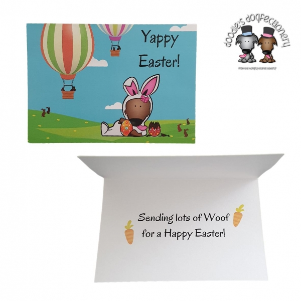 Doodles Dogfectionery Yappy Easter Card