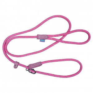 "Hem & Boo Mountain Rope Slip Lead Pastel Pink 60"""