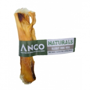 ANCO Naturals Rabbit Hide Roll with Hair 1pc
