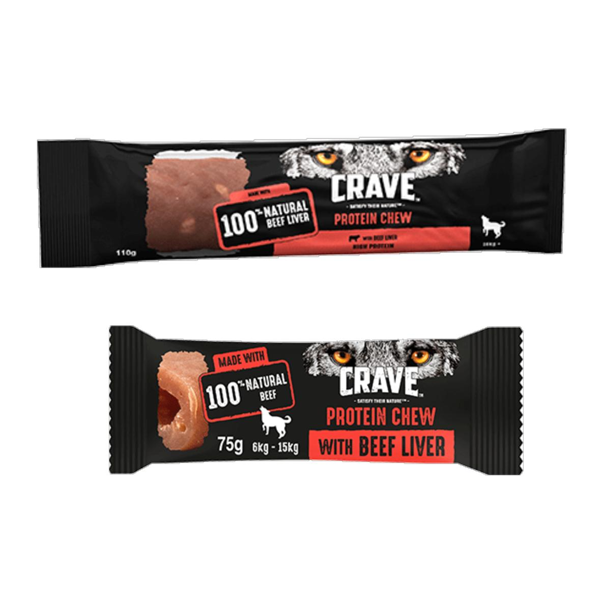 CLEARANCE CRAVE Protein Chew Beef Liver