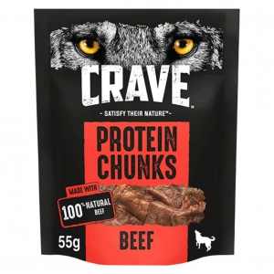 CRAVE Protein Chunks with Beef 55gm
