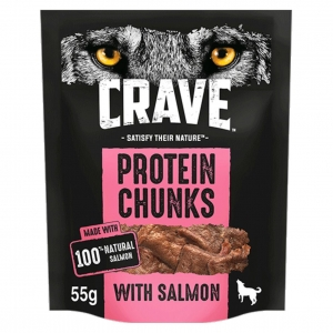 CRAVE Protein Chunks with Salmon 55gm