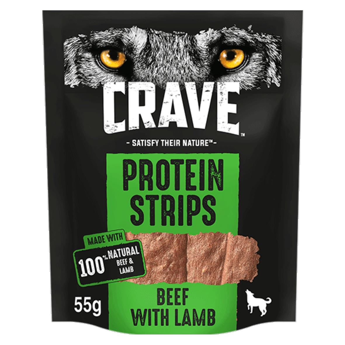 CRAVE Protein Strips Beef with Lamb 55gm