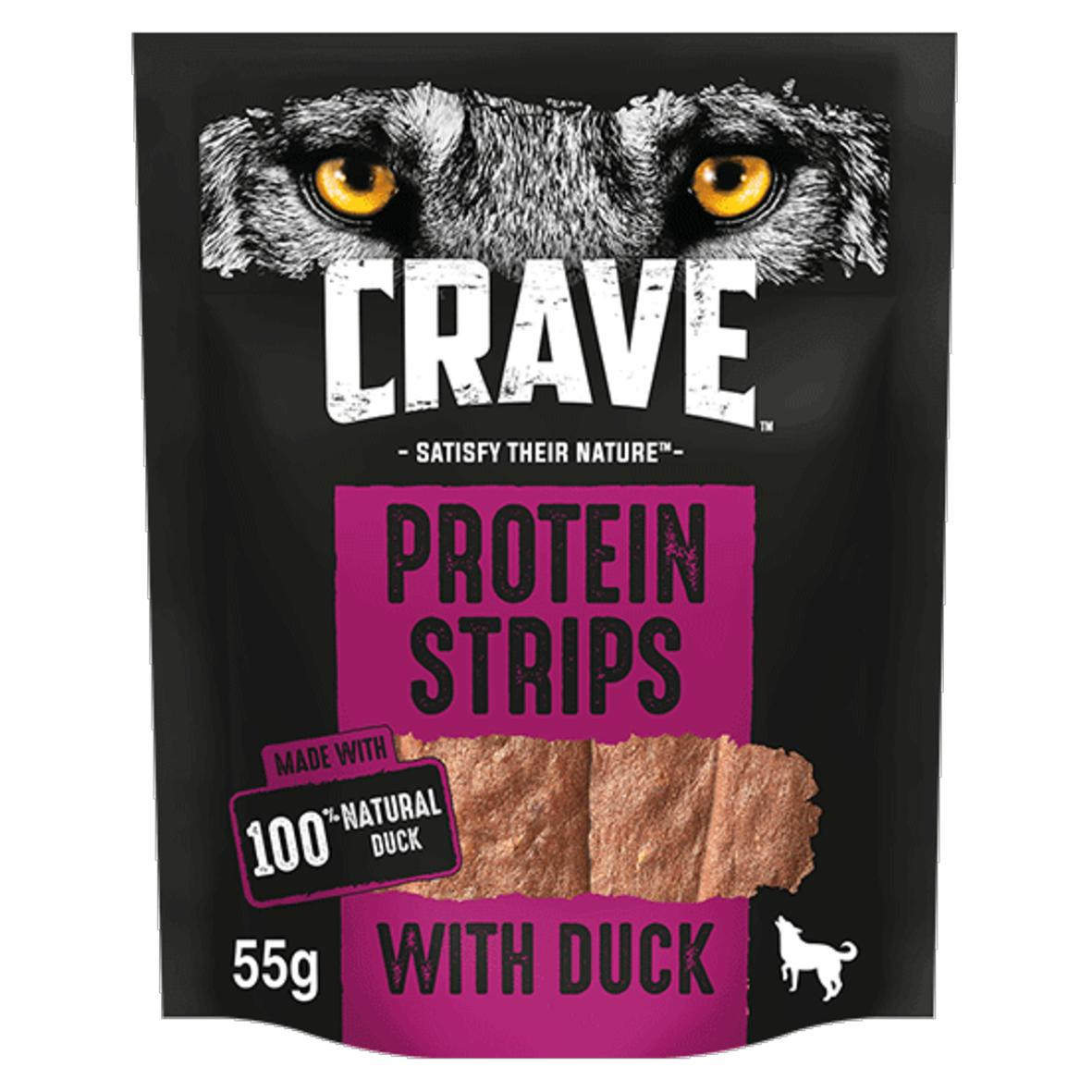 CRAVE Protein Strips with Duck 55gm