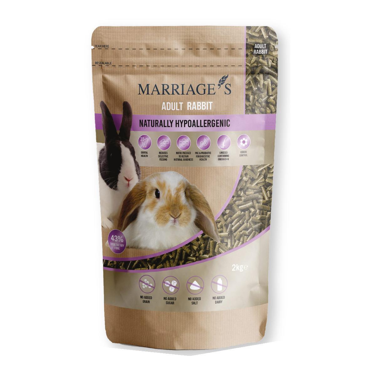 Marriages Adult Rabbit Pellets 2kg VAT FREE