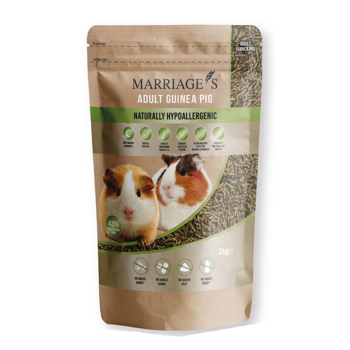 Marriages Adult Guinea Pig Pellets 2kg