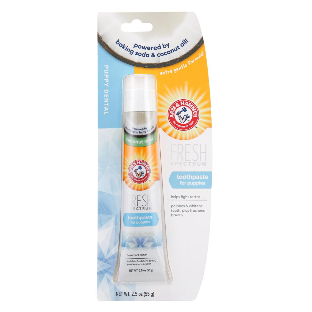 Arm & Hammer Puppy Dental Toothpaste 55gm (Coconut Mint Flavour)