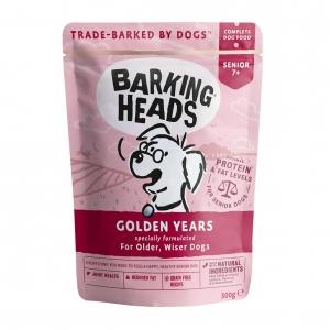 BARKING HEADS Golden Years Senior Pouches 7+ 10 x 300gm (Grain Free)