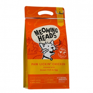 MEOWING HEADS Paw Lickin Chicken with Fish & Egg 1.5kg