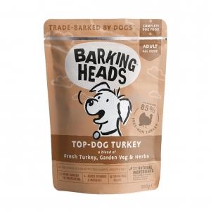 BARKING HEADS Top Dog Turkey Pouches 10 x 300gm