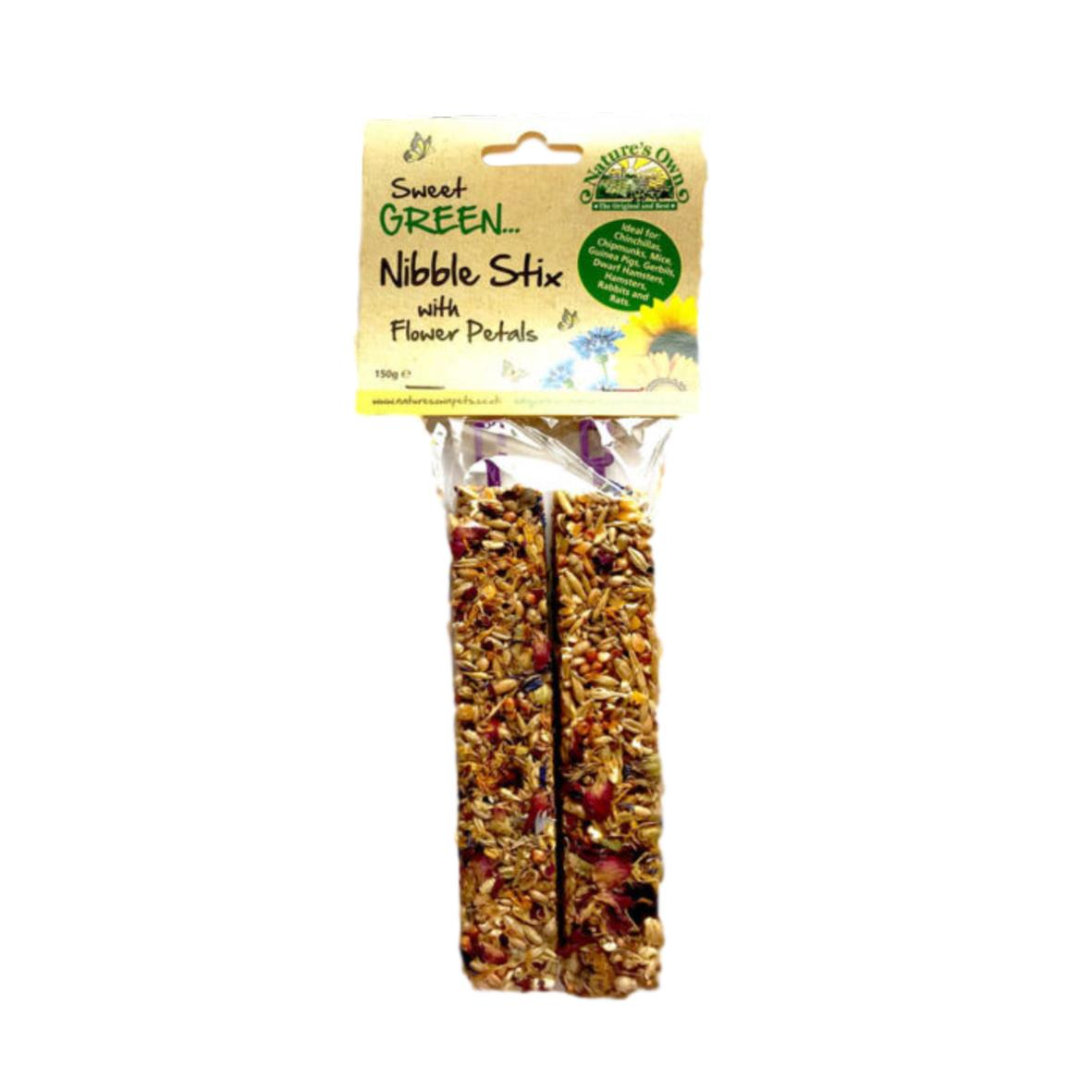 Sweet Green Nibble Stix with Flower Petals 2pcs
