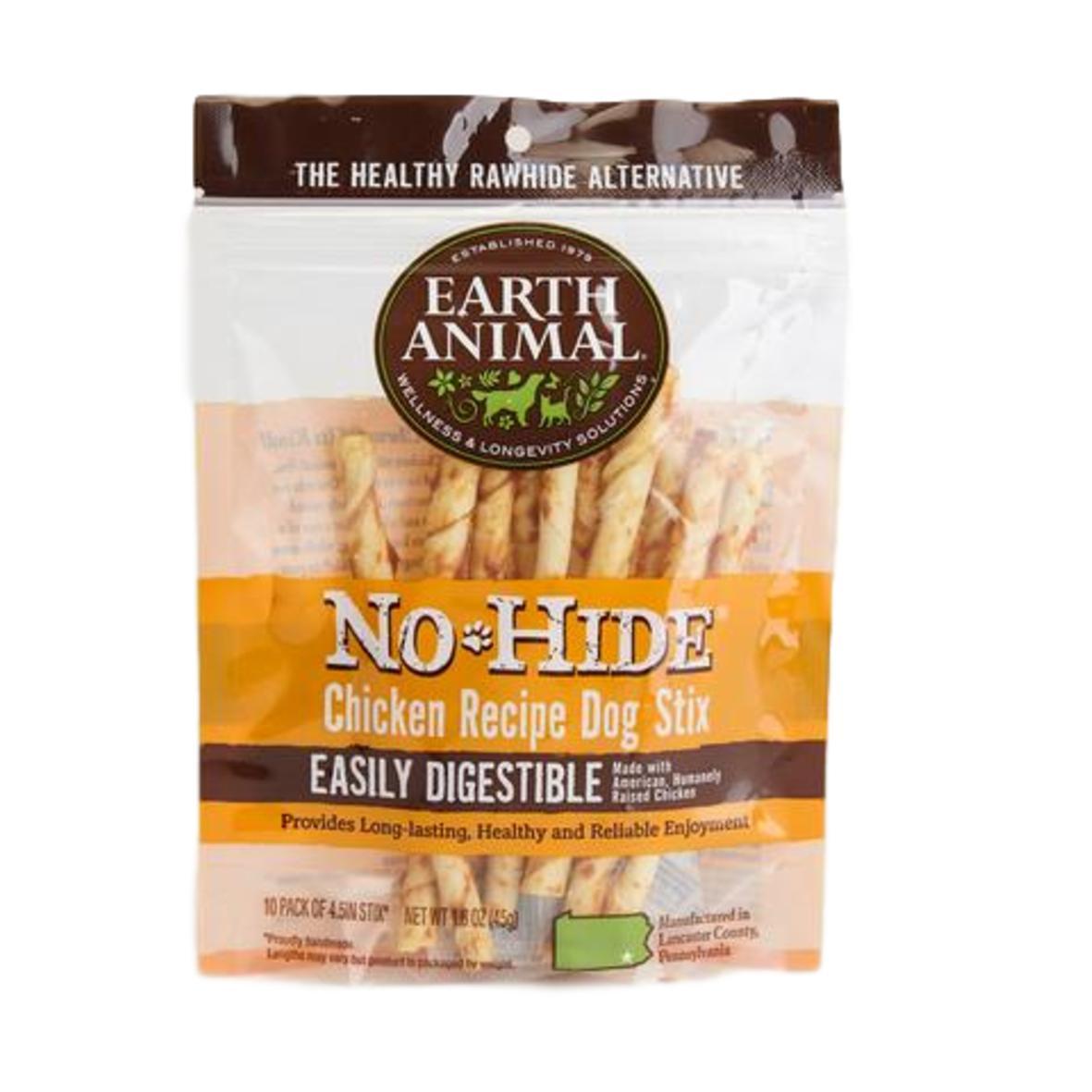 Earth Animal No-Hide Stix Chicken 10pcs 45gm