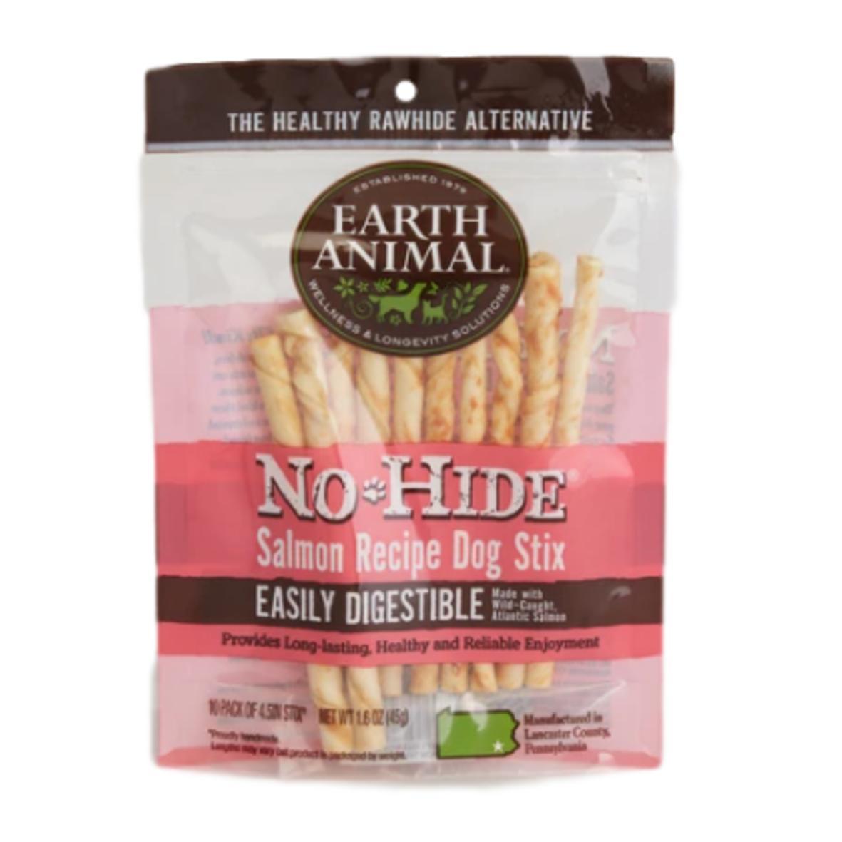 Earth Animal No-Hide Stix Salmon 10pcs 45gm