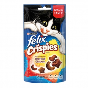 Felix Crispies Treats with Beef and Chicken 60gm