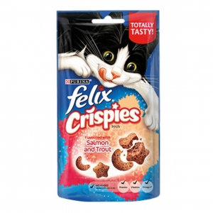 Felix Crispies Treats with Salmon and Trout 60gm