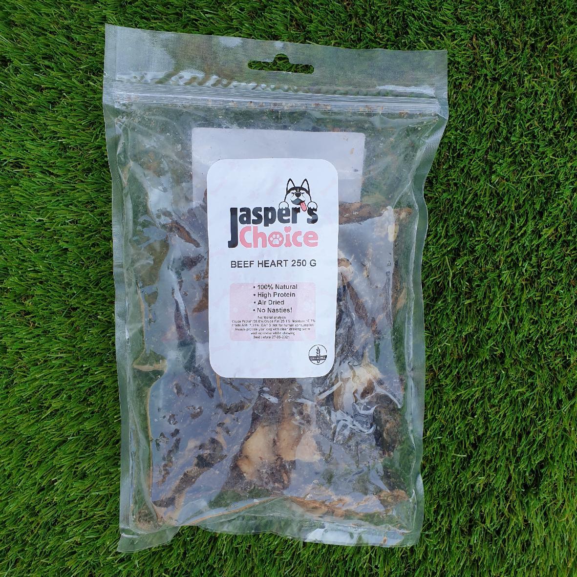 CLEARANCE Jaspers Choice Beef Hearts 250gm