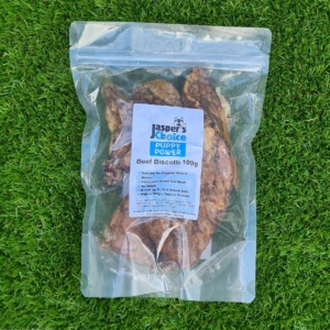 Jaspers Choice PUPPY POWER Beef Biscotti 100gm (Grain Free)