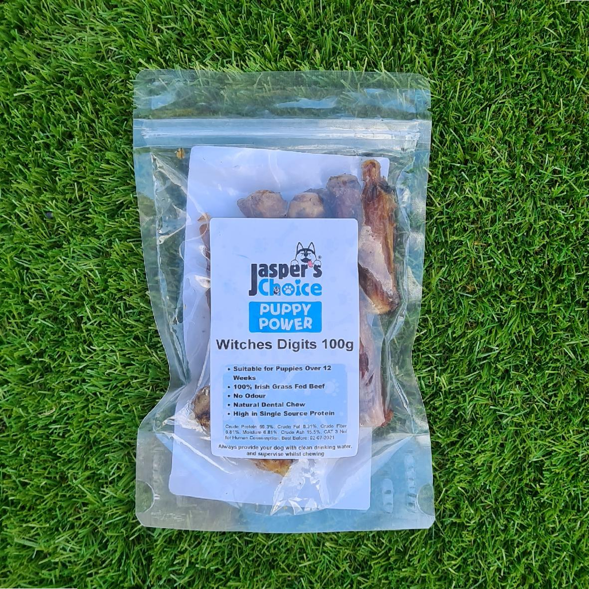 Jaspers Choice PUPPY POWER Witches Digits 100gm