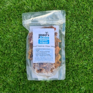 Jaspers Choice PUPPY POWER Beef Testicle Chips 100gm (Grain Free)