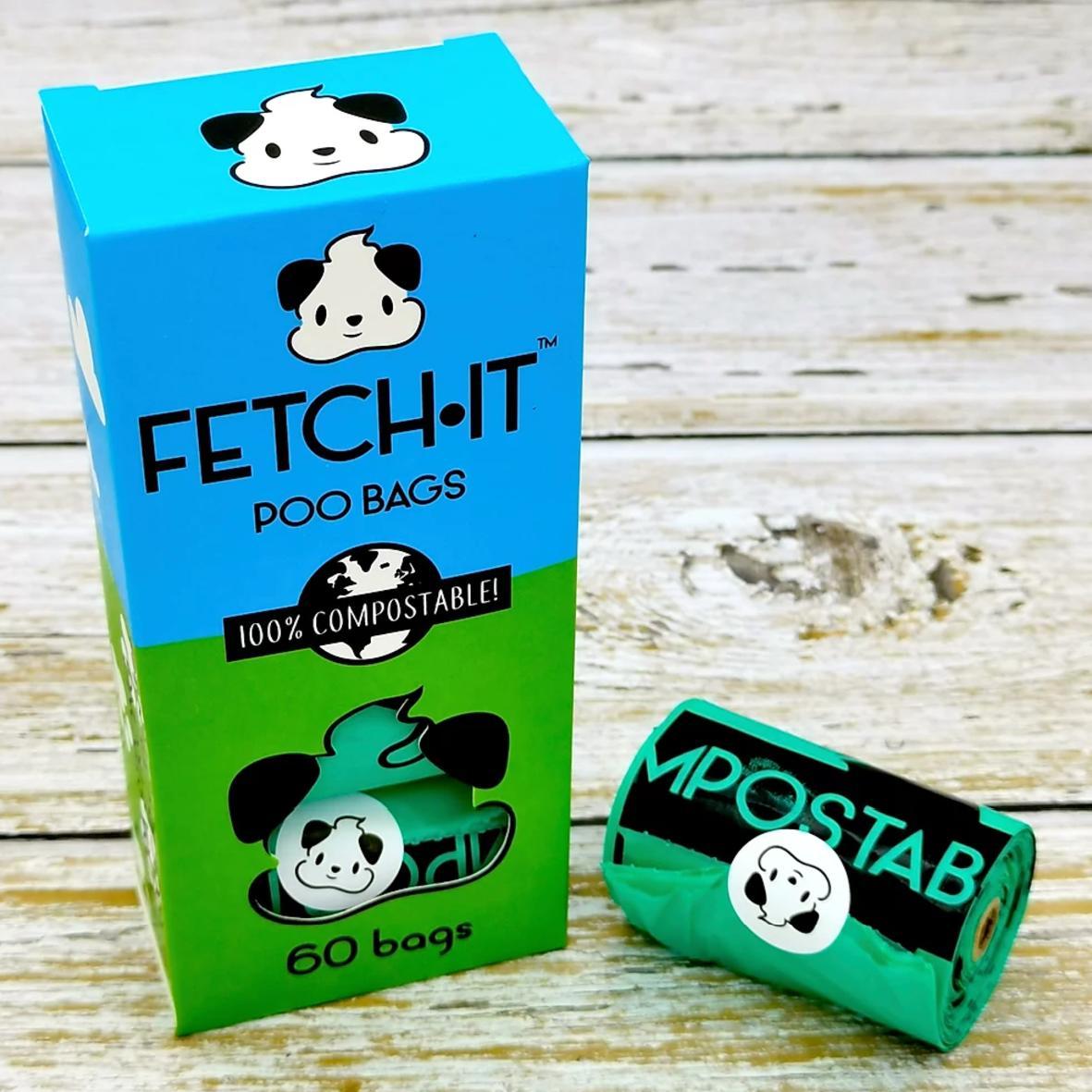 FETCHIT Poo Bags 60pcs (100% Compostable)