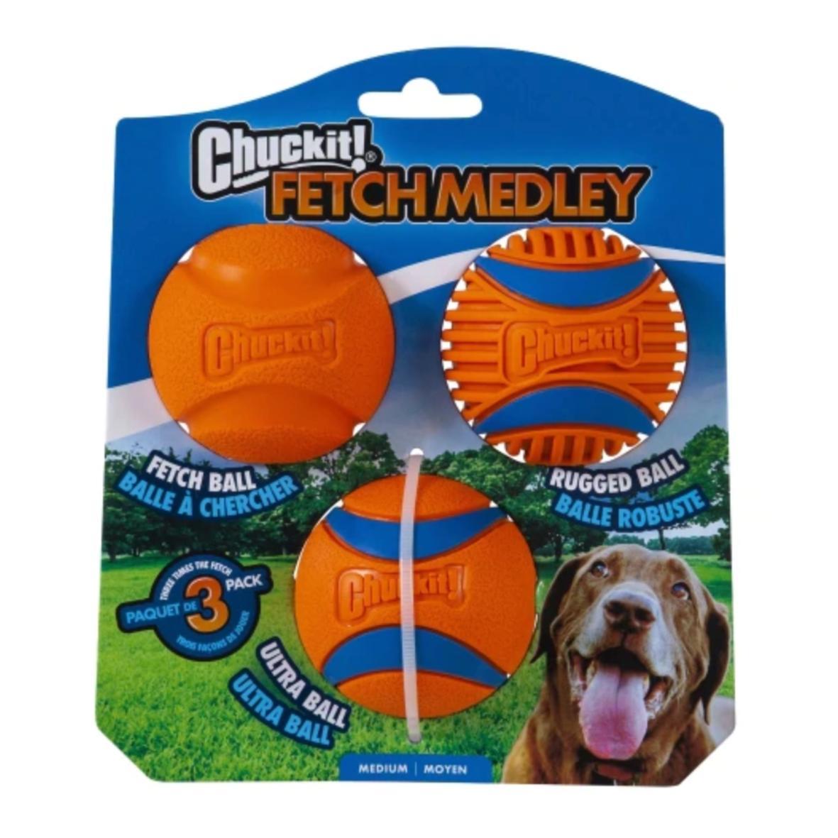 Chuckit! Fetch Medley 3 Medium 6.5cm (3-Pack)
