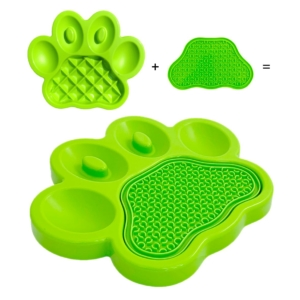PAW 2 in 1 Combo Feeder & Lick Pad Green