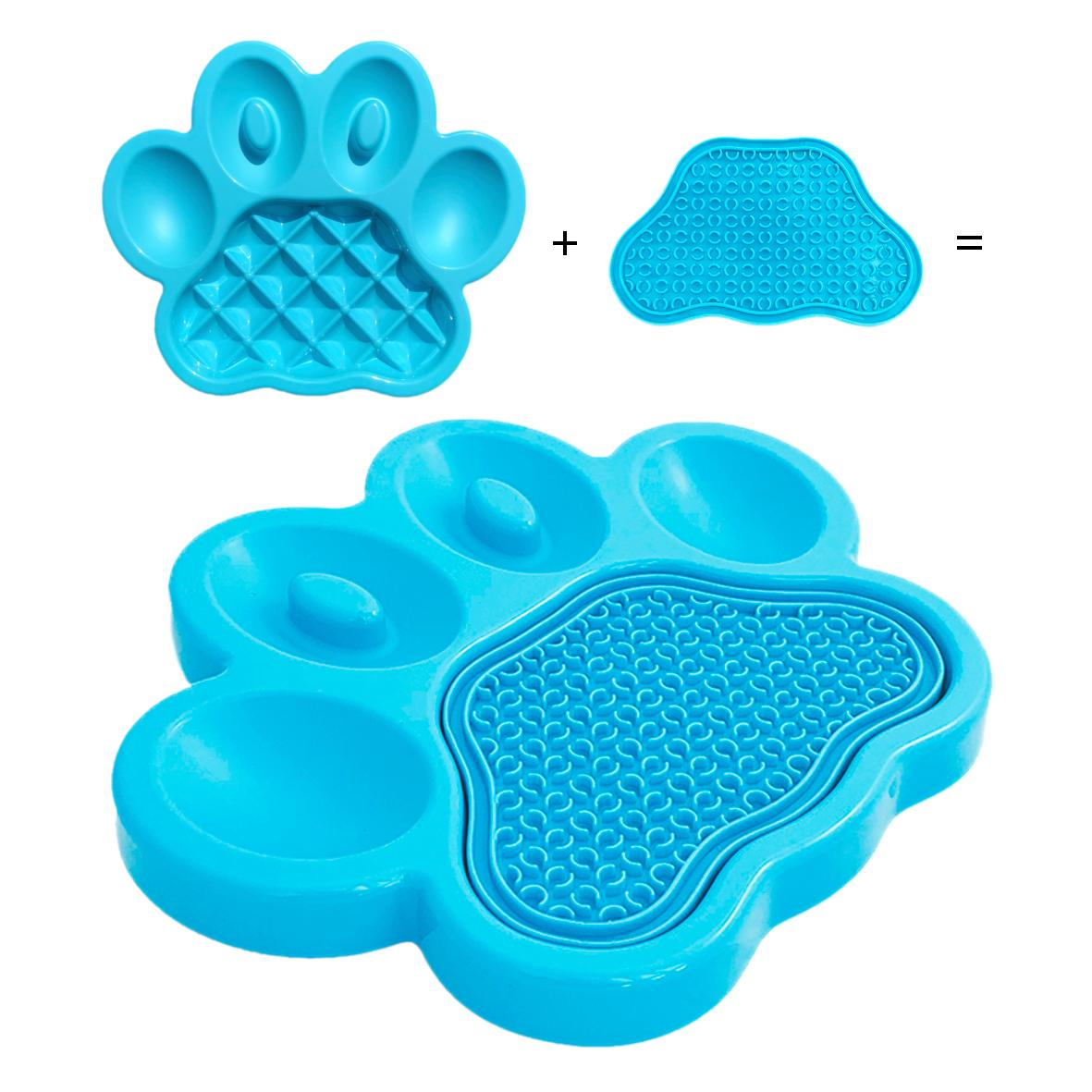 PAW 2 in 1 Combo Feeder & Lick Pad Blue