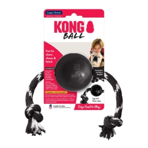 KONG Extreme Ball with Rope Black Large