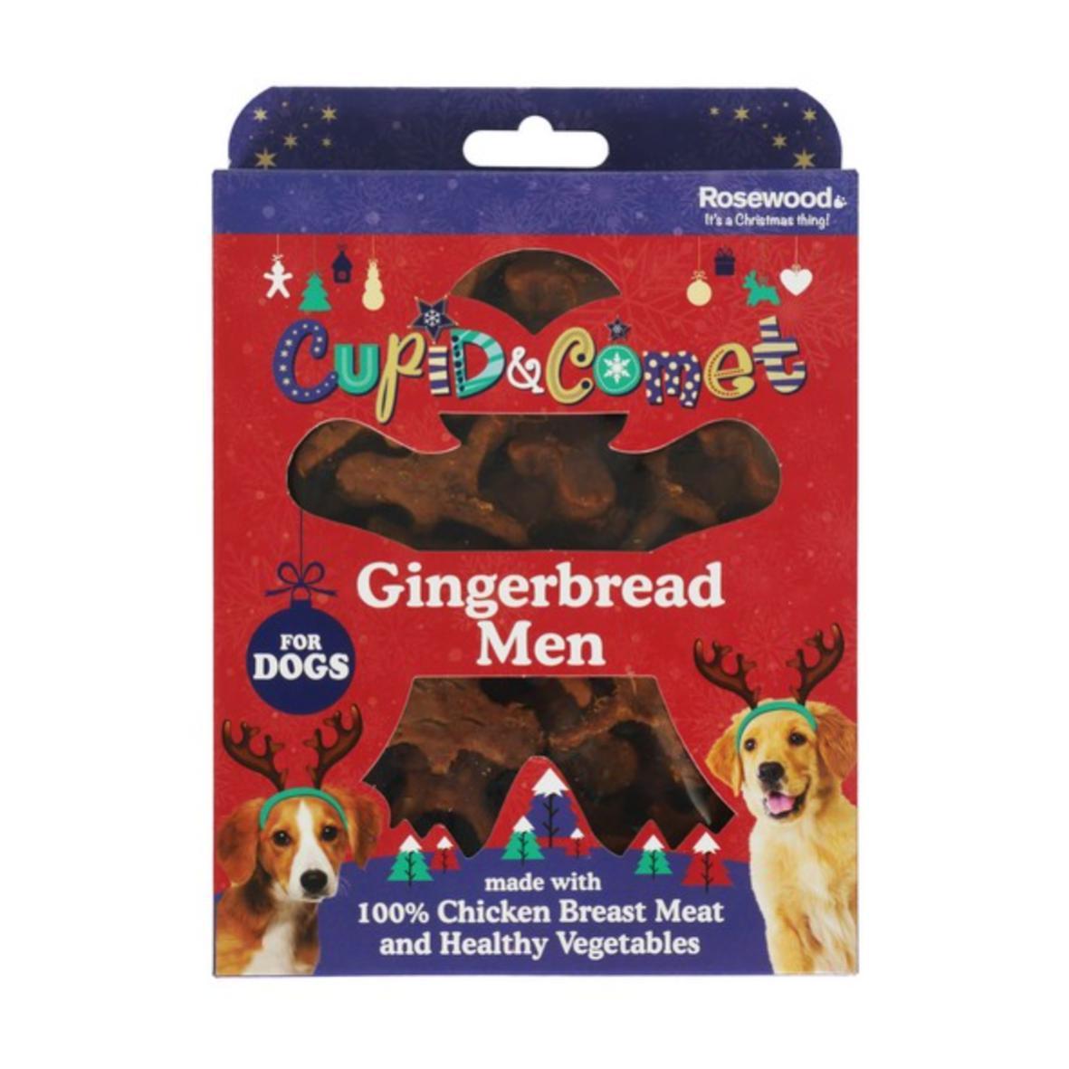 CLEARANCE Cupid & Comet Gingerbread Men Chicken Bites 160gm