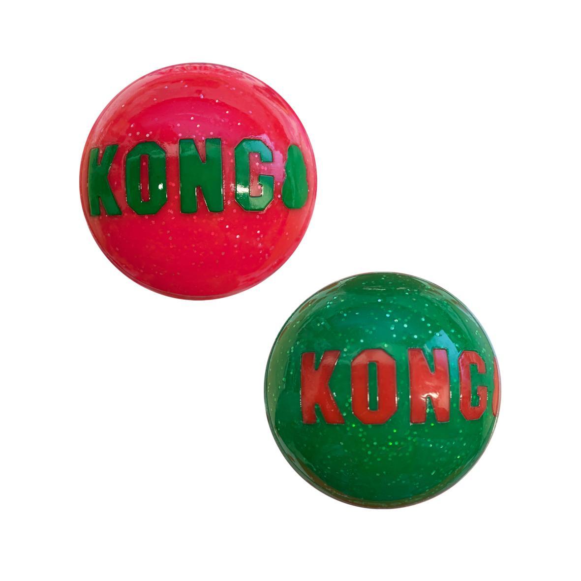 CLEARANCE KONG Holiday Signature Balls Medium 2pk