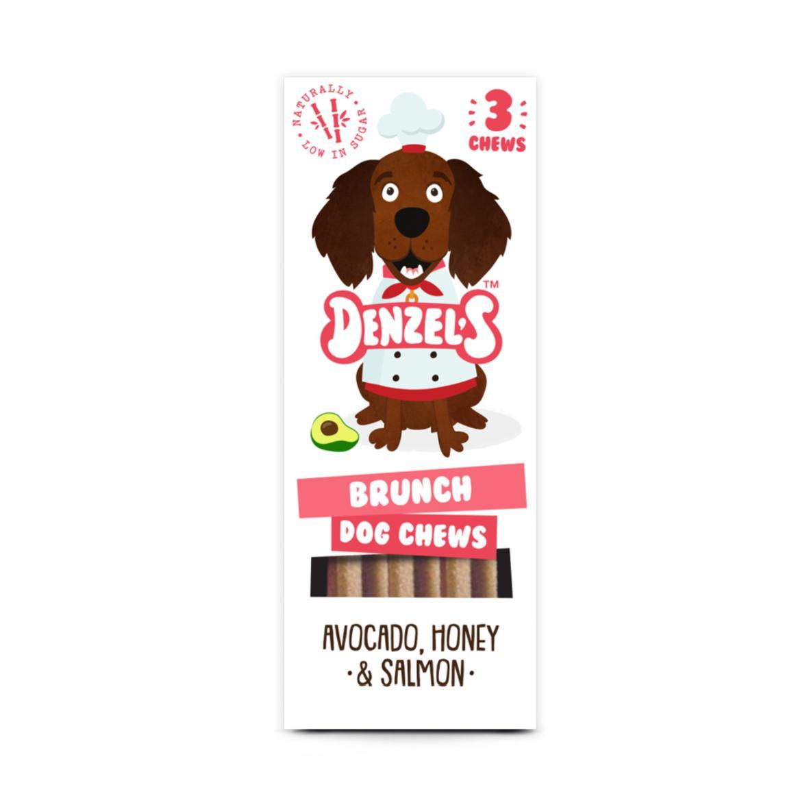 Denzels Brunch Dog Chews Avocado, Honey & Salmon 3pk