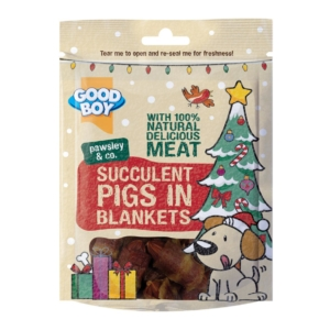 Good Boy Pawsley Succulent Pigs in Blankets CHRISTMAS 70g