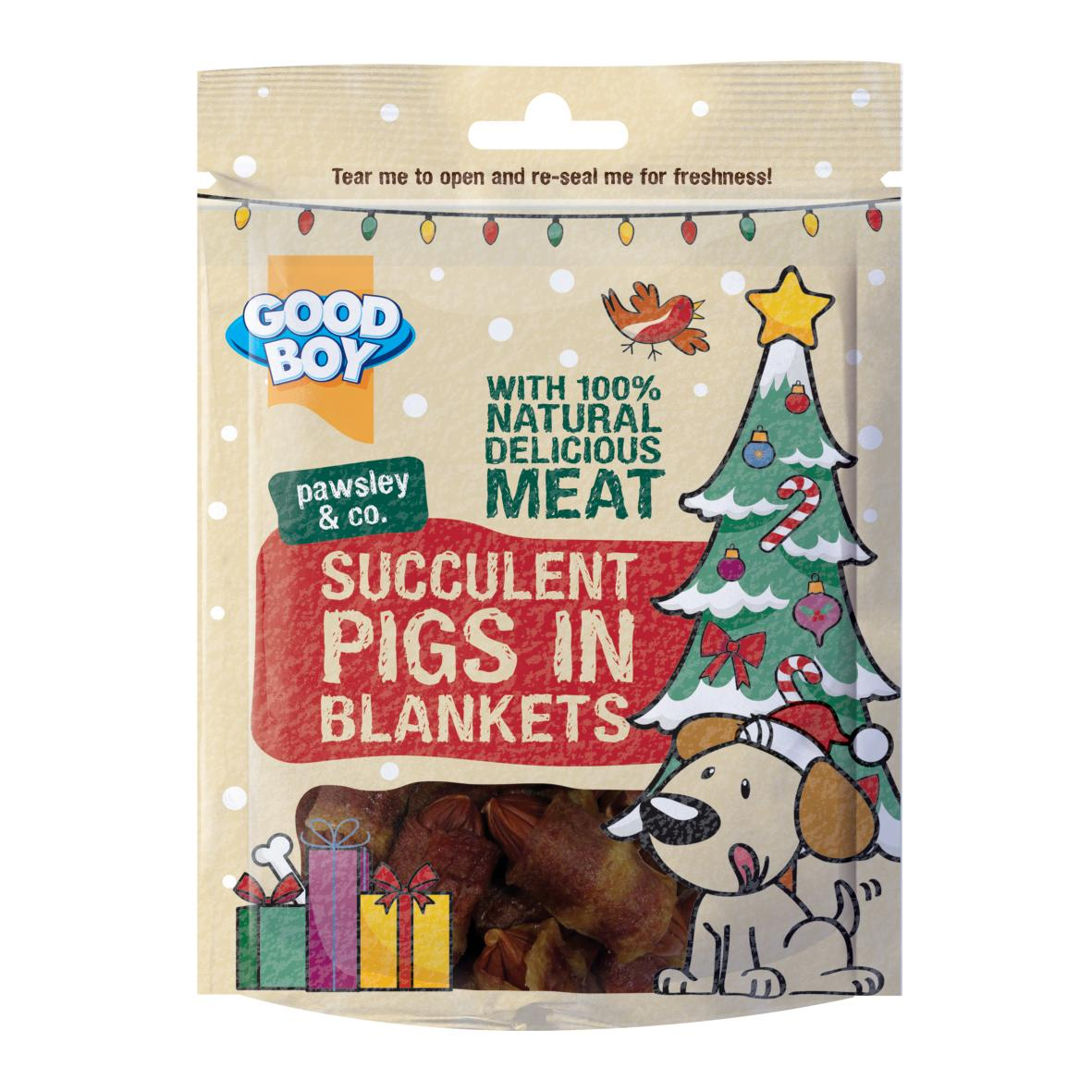 CLEARANCE Good Boy Pawsley Succulent Pigs in Blankets 70g [CHRISTMAS EDITION]