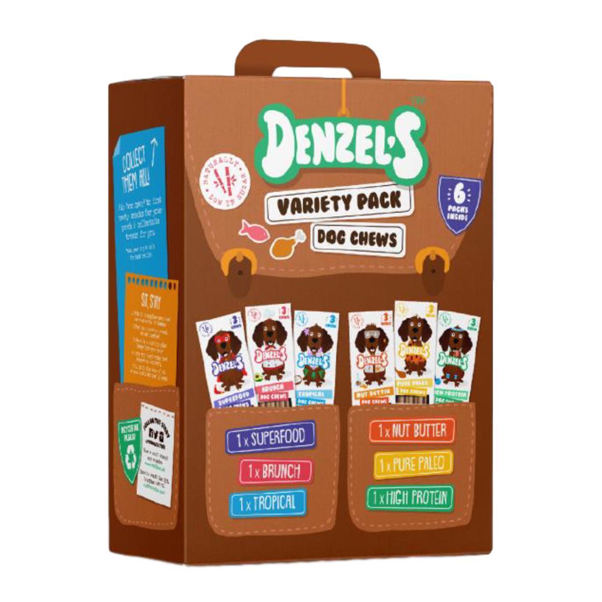 Denzels Variety Pack Dog Chews 6 x 3pk