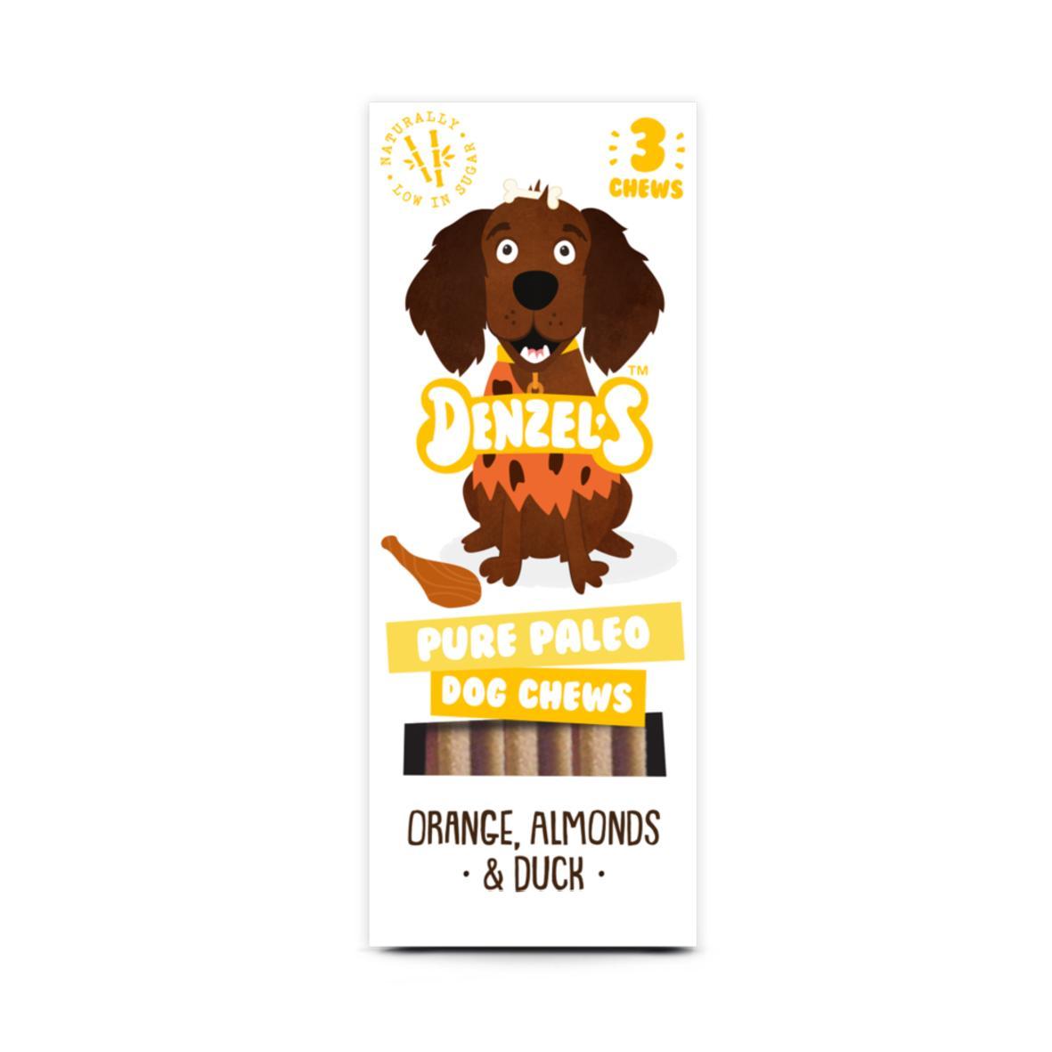 Denzels Pure Paleo Dog Chews Orange, Almonds & Duck 3pk