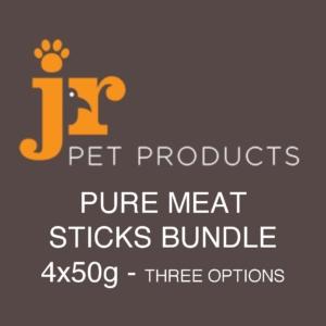 JR Pure Meat Sticks Bundle 4x50gm