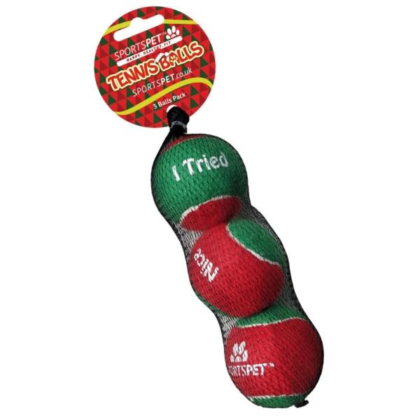 SportsPet Christmas Tennis Balls