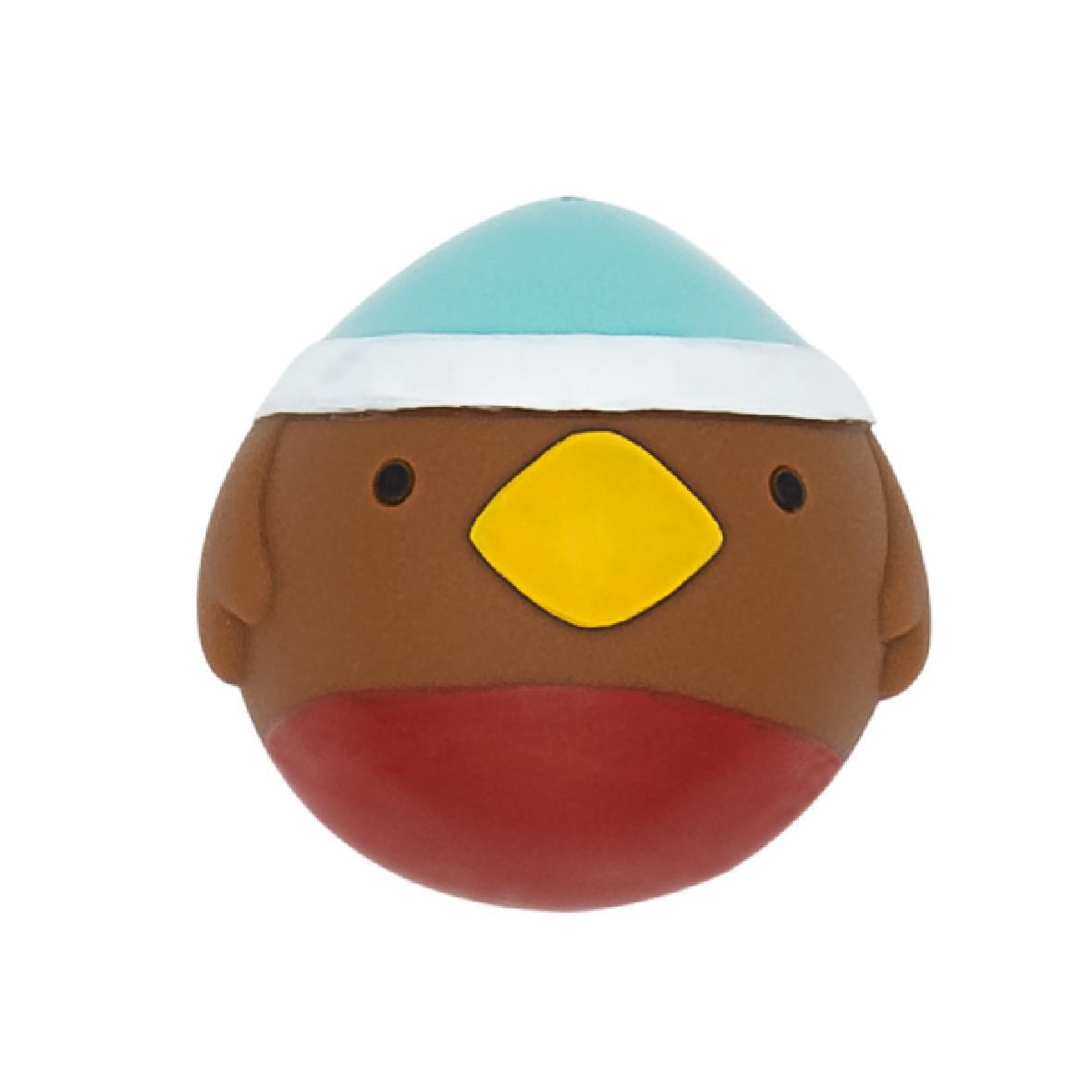 CLEARANCE Good Boy Festive Faceball Robin 6.5cm