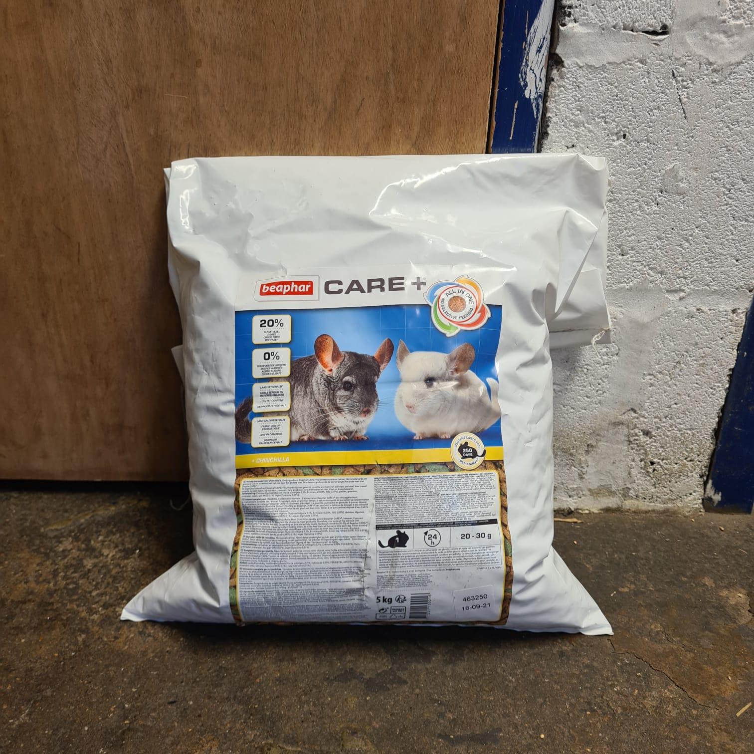 CLEARANCE BEAPHAR Care + Chinchilla Food 5kg (TORN BAG – RESEALED)