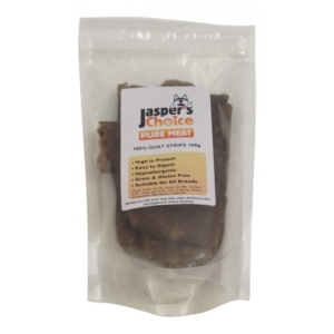 Jaspers Choice 100% Goat Strips 100g