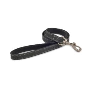 (D) ANCOL Timberwolf Leather Lead Grey 19mm x 60cm