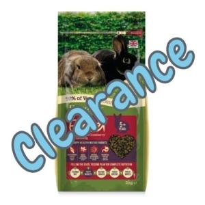 (E) Burgess Excel Mature Rabbit Nuggets 5+ 2kg [BB 10-12-21]