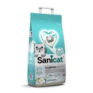Sanicat Clumping White Litter Cotton Fresh 10L