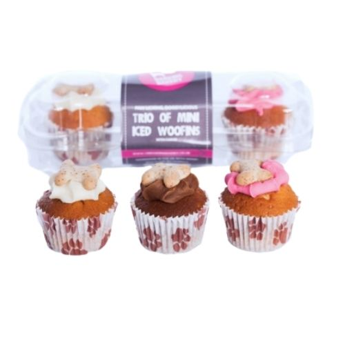 The Barking Bakery Trio of Mini Iced Woofins 3-Pack