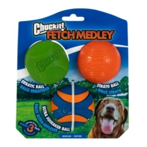 Chuckit Fetch Medley 2 Medium 6.5cm (3-Pack)