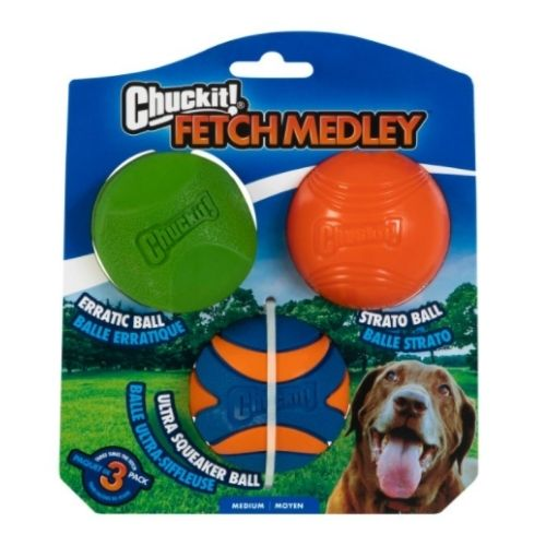 Chuckit Fetch Medley 2 3pk 6.4cm