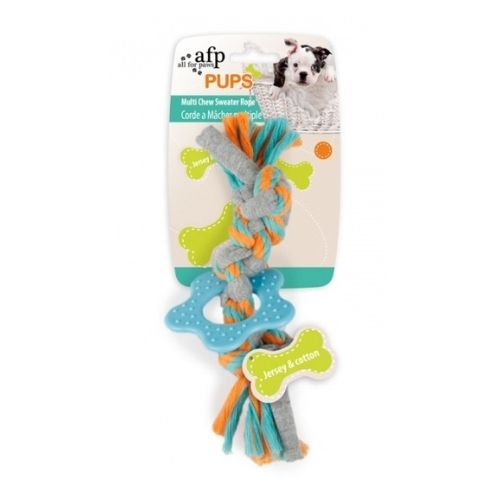 All for Paws PUPS Multi Chew Sweater Rope 19cm