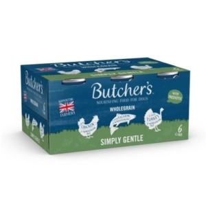 Butchers Wholegrain Simply Gentle Multipack Cans 6x390g
