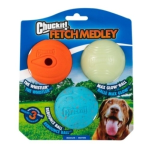 Chuckit! Fetch Medley Medium 6.5cm (3-Pack)
